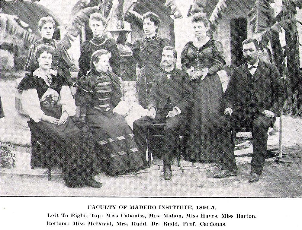 Faculty of Madero Institute, 1894-95