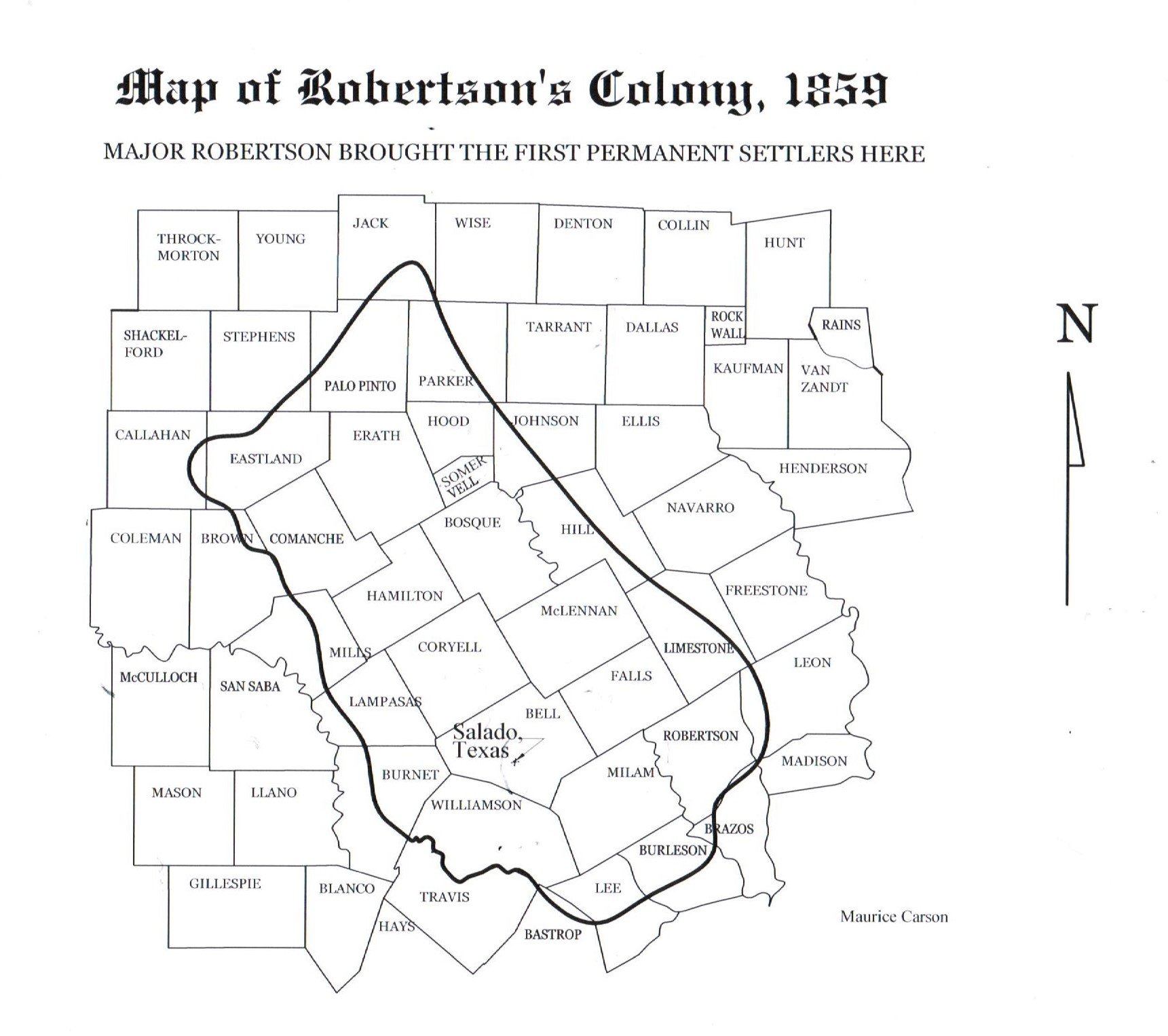 Map of Robertson's Colony